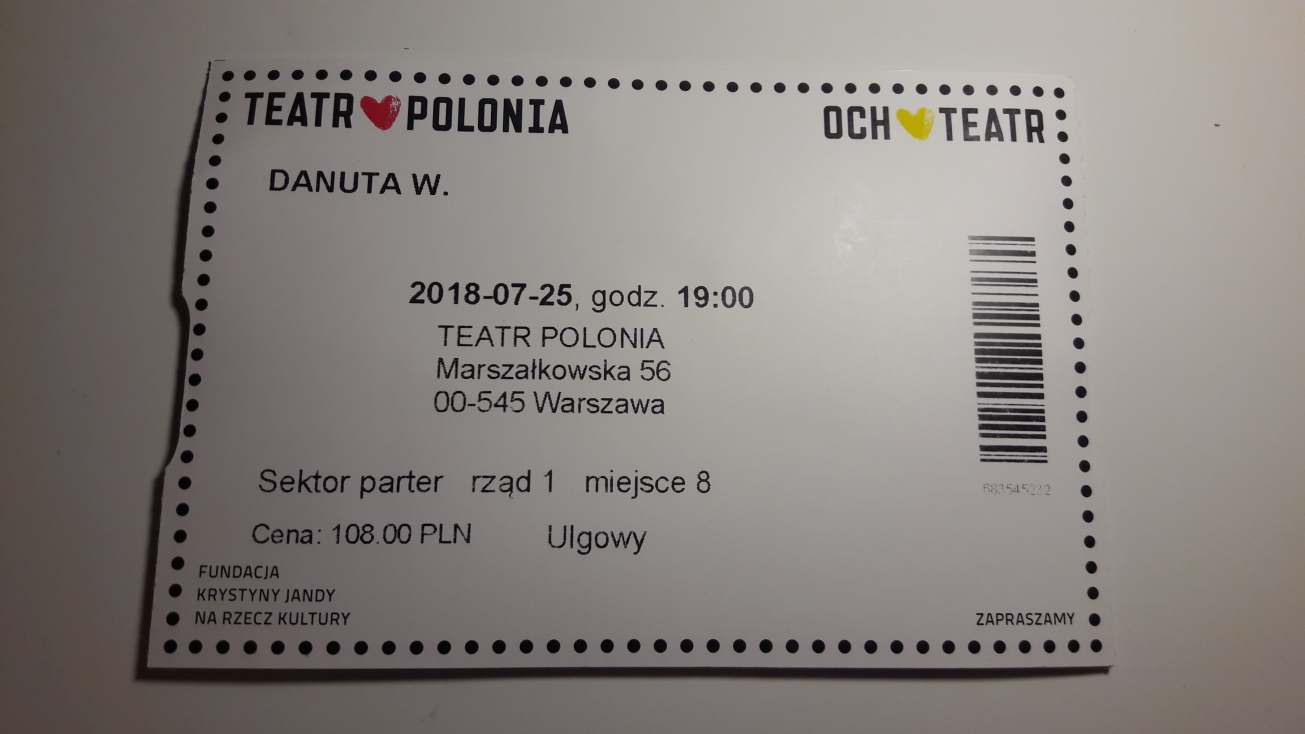Danuta W., Teatr Polonia, Krystyna Janda