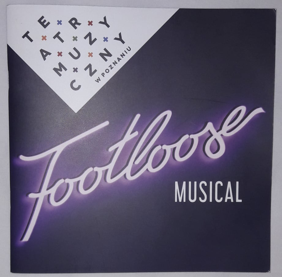 "Okładka programu musicalu ""Footloose"""