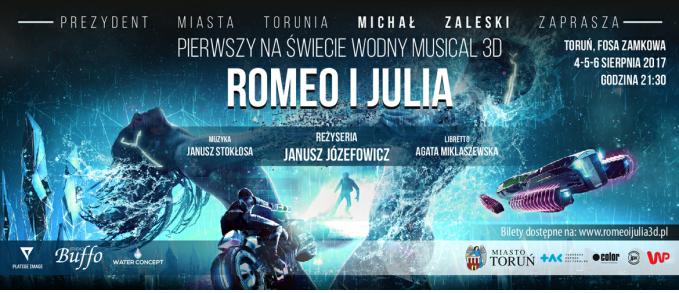 Plakat reklamujący premierowy spektakl w Toruniu